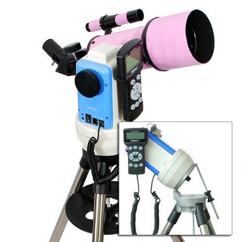 Twinstar Pink 80Mm Ioptron Computerized Gps Equatorial Refractor Telescope