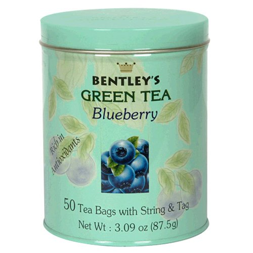 Buy Bentley's Royal Blueberry Green Tea, 50 Tea Bag Tin (Pack of 4) (Bentley's, Health & Personal Care, Products, Food & Snacks, Beverages, Tea, Green Teas)