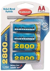 Hahnel AC4AA2800 4 Batterie AA NiMh 2800 mAh 1,25V