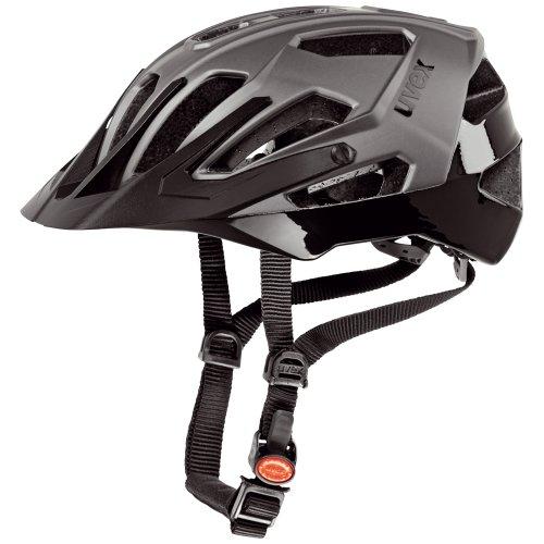Uvex, Casco da ciclista Quatro MTB, Argento (Dark Silver Mat/Black), 56-60 cm