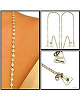 Strap N' Guard Women's Single Row Gold Rhinestone Pin Straps for Dress