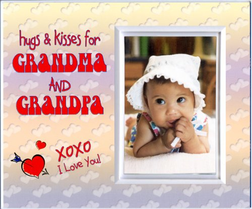 Hugs & Kisses for Grandma and Grandpa - Picture Frame Gift - 1