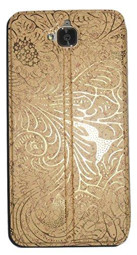 buy online 7bc1f 137f7 Mercator Designer Diary Flip Cover for Honor Holly 2 Plus - Gold