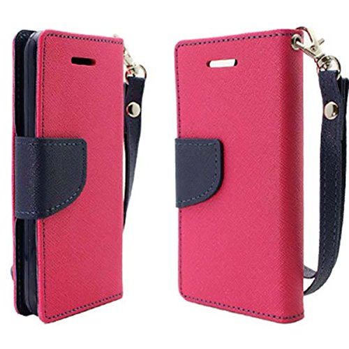 Mylife (Tm) Pink Charm {Hipster Design} Faux Leather (Card, Cash And Id Holder + Magnetic Closing) Slim Wallet For The Iphone 5C Smartphone By Apple (External Textured Synthetic Leather With Magnetic Clip + Internal Secure Snap In Hard Rubberized Bumper H