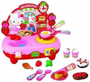 Hello kitty kitchen set toys games for Kitchen set wala game
