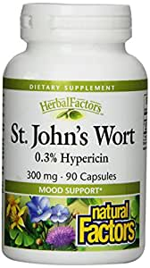 Natural Factors St. John's Wort Extract 300mg Capsules, 90-Count