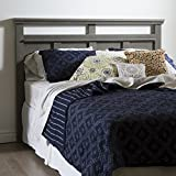 South Shore 54/60'' Versa Headboard, Full/Queen, Gray Maple