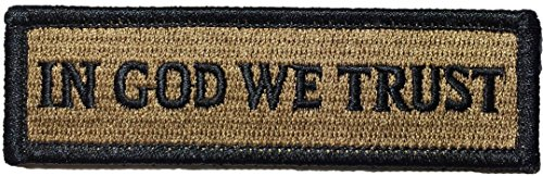 Tactical IN GOD WE TRUST Morale Tab Patch 1