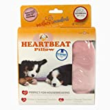 PetZu Mother's Comfort Heartbeat Pet Pillow, Pink/White