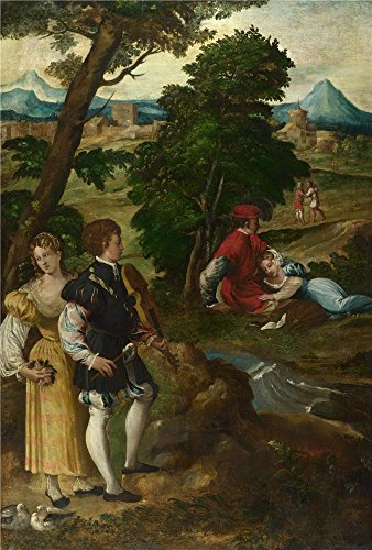 The Polyster Canvas Of Oil Painting 'Bernardino Da Asola The Garden Of Love ' ,size: 8 X 12 Inch / 20 X 30 Cm ,this High Quality Art Decorative Prints On Canvas Is Fit For Wall Art Gallery Art And Home Decor And Gifts