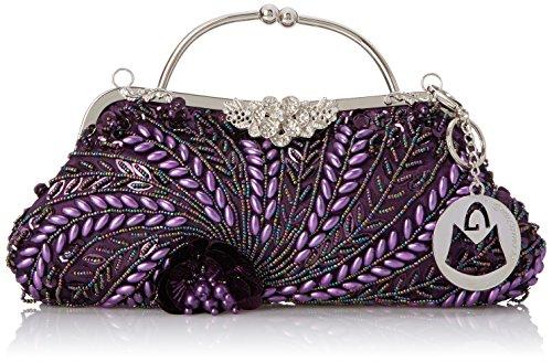 MG Collection Adriana Beaded Evening Bag, Purple $14.40 (reg. $65.00)