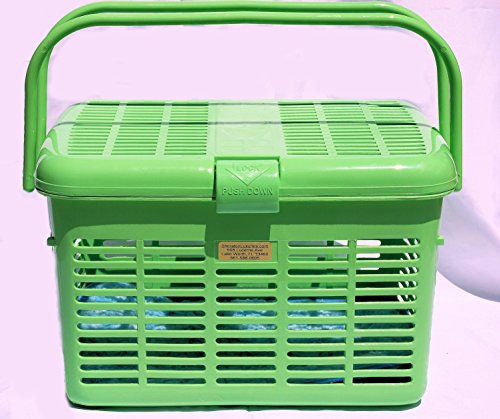 Stylish Pet Cat Carriers Easy Open Wide Top Load Door Fully Assembled Easily Place and See Cats Dogs Rabbit Small Animals inside 16×11.63×10.25 Free Soft Fur Mat (Green)