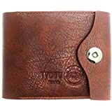 EUBEST Mens Leather Bifold Wallet Id Cards Holder Coin Pocket Bag Button Slim Purse New