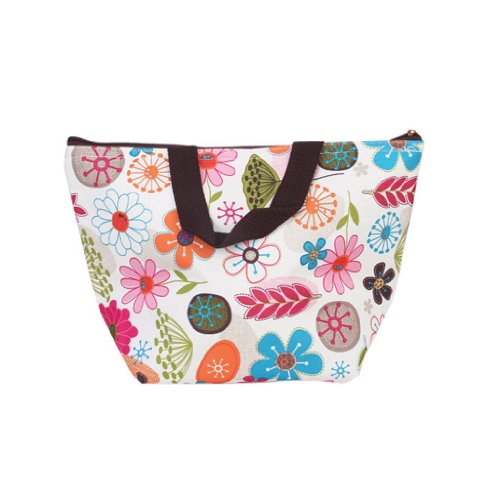 UKEOL®Lunch Box Bag Tote Insulated Cooler Carry Bag for Travel Picnic - Floral Pattern