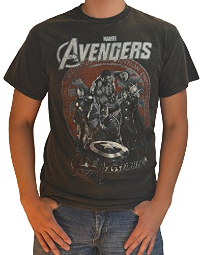 Assemble -- The Avengers Movie Mineral-Wash T-Shirt