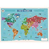 World Map by Marcus Walters (Lithographic Print)