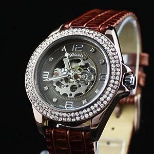 Luxury Lady Crystal Automatic Mechanical Watch hw95