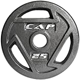 CAP Barbell Olympic 2-Inch Grip Plate, 25-pound