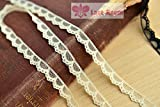 1cm Half moon soft White lace 10 meter high quality DIY lace trim dress lace fabric (Apricot color)