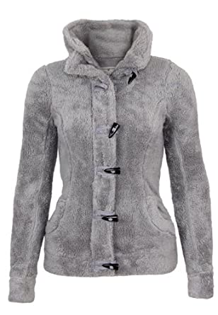 Fresh Made Teddy Veste polaire, Taille:XS;Couleur:Middle Grey