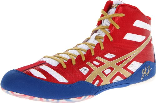 ASICS Men's JB Elite Wrestling Shoe,True Red/Olympic Gold/White,7 M US/38 EU (Amazon Jordan Shoes compare prices)