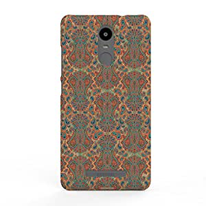 Koveru Designer Printed Protective Snap-On Durable Plastic Back Shell Case Cover for Xiaomi Redmi Note 3 - Paisley Spice