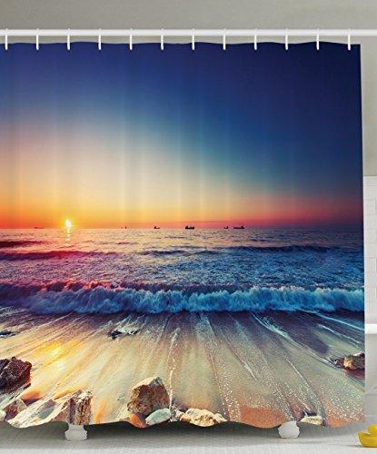 Duschvorhang Fur Badewanne Hornbach : BBFhome Duschvorhang 150 x 180 cm Seedekor OzeanSonnenuntergang