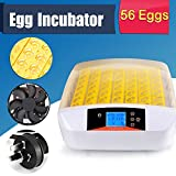 56 Eggs Hatching Incubator Automatic, Intelligent Digital Hatching with Turning Temp Control (US STOCK)