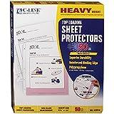 C-Line Top Loading Heavyweight Poly Sheet Protectors, Non-Glare, 8.5 x 11 Inches, 50 per Box (62018)