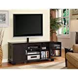Walker Edison 60-Inch Wood TV Console With Mount, Black