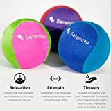 Serenilite Dual Colored Hand Therapy Stress Ball - Ocean Breeze Royal Blue / Light Blue