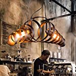 CHX Industrial wind American country chandelier vintage continental style wrought iron antique Cafe dining room chandelier 680180180mm