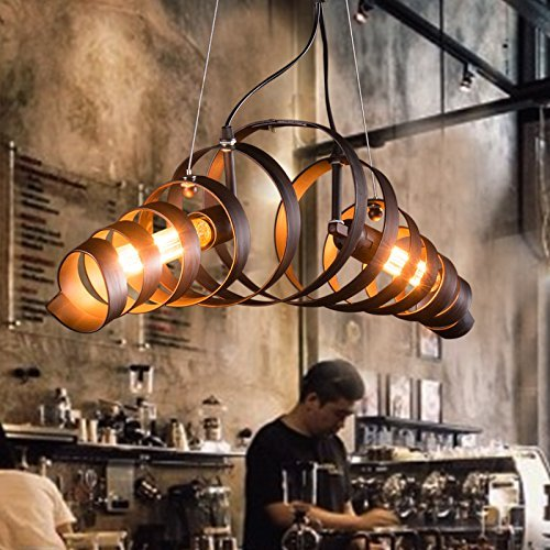CHX Industrial wind American country chandelier vintage continental style wrought iron antique Cafe dining room chandelier 680180180mm 0
