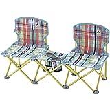 Logos (LOGOS) Chair Checker Pair Midi Chair Table Pocket Plus 73, 170, 038