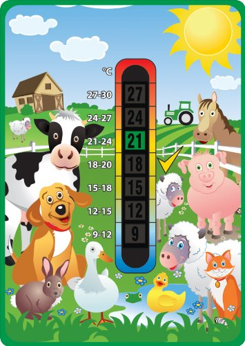 Happy Family Farm Animals Baby Nursery & Room Safety Temperature Thermometer