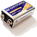 Luckystone 6F22 1604S Heavy Duty 9 Volt Battery For Camera Toys Multimeter And Thermometer