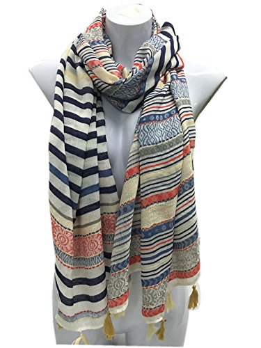 Velice Women's Light Weight Vintage Print Infinity Scarf Shawl Wrap (A-1) (Vintage Head Wraps compare prices)