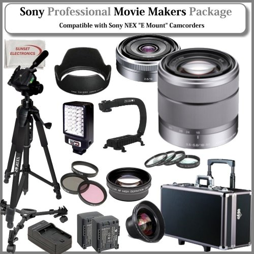Movie Makers Package for SONY NEX-VG10, NEX-VG20 Interchangeable Lens Handycam Camcorders