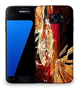 Snoogg business background Designer Protective Back Case Cover For Samsung Galaxy S7