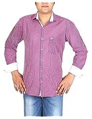 BLACK & WHITE Men's Slim Fit Shirt - B00WMR95JQ