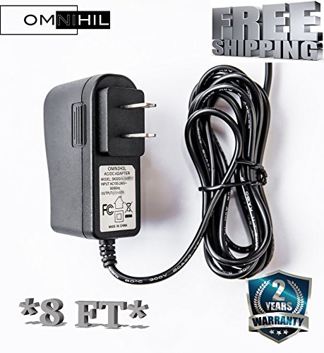 OMNIHIL  9V AC/DC Adapter Adaptor For Schwinn A20 120 220 240 227P Recumbent Exercise Bike Power Supply Wall Charger