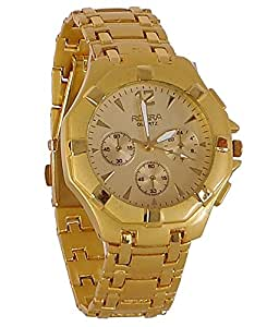 Fighter Full Gold Rosra Classic Men's Analog Watch RosraGL