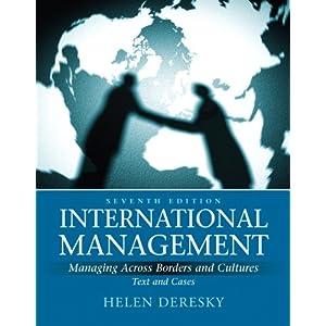 helen deresky International management, global edition, 8/e helen deresky deresky isbn-10: 1292153539 • isbn-13: 9781292153537.
