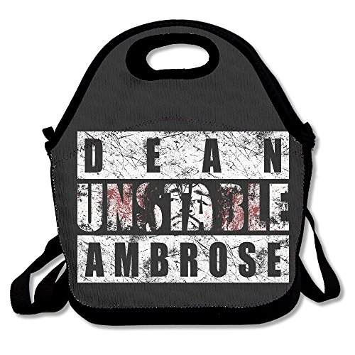 Dean Ambrose Unstable Ambrose Lunch Bag Travel Zipper Organizer Bag, Waterproof Outdoor Travel Picnic Lunch Box Bag Tote With Zipper And Adjustable Crossbody Strap (Dean Harris compare prices)