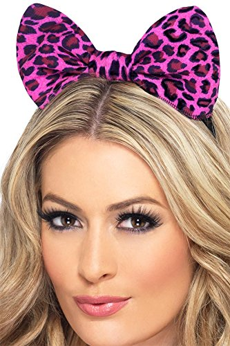 Fever Women's Leopard Bow On Headband On Display Card, Pink, One Size