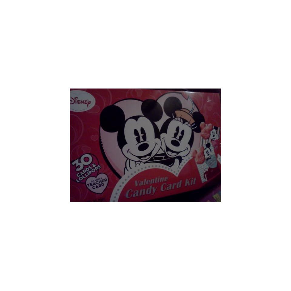 Disney Mickey & Minnie Mouse Valentine Candy Card Kit
