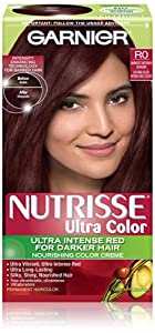 Garnier Hair Color Nutrisse Ultra Color Nourishing Color Creme, R0 Darkest Intense Auburn