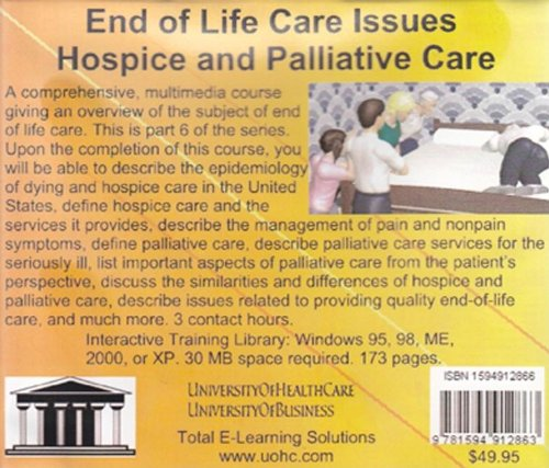end of life medical issues As medical knowledge and technology increase end of life care: an ethical overview presents significant part iv end of life issues.