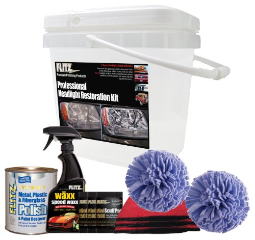 Flitz PHR 25501 Mixed Professional Headlight Restoration Kit/Bucket at the  HeadlightBulbs NET
