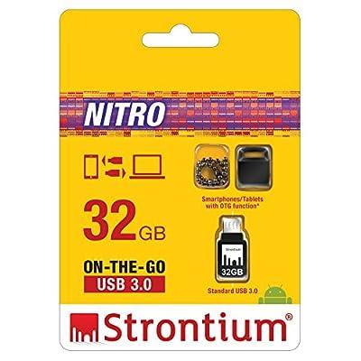 Strontium Nitro SR32GBBOTG2Z 32GB USB OTG Pen Drive (Black)